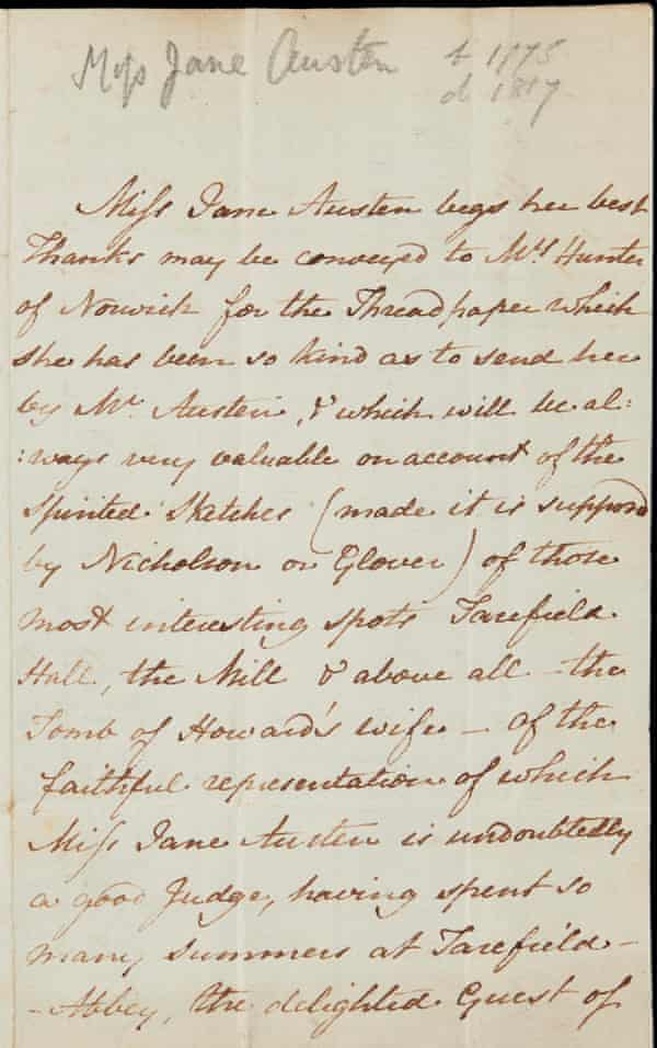 Jane Austen's letter about the Tale of Villany