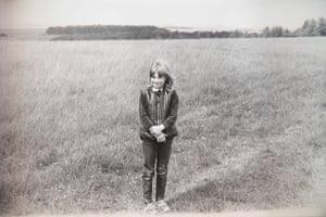 Dawn Sturgess, aged 11, on Salisbury Plain.