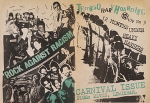 The cover of Temporary Hoarding fanzine dedicated to the Rock Against Racism Carnival, London, 1978