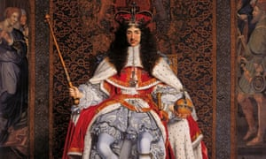 Charles II portrait by John Michael Wright (1617-94) at the National Maritime Museum, London.