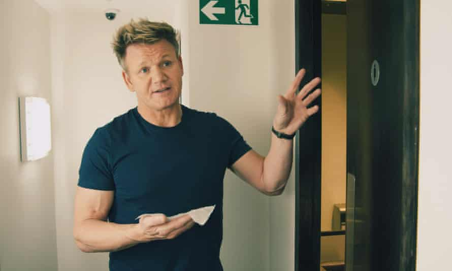 Gordon Ramsay seen swabbing the staff toilets at one of his London restaurants