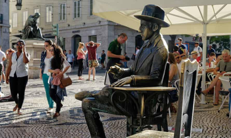 'Almost a holy fool': The statue of Fernando Pessoa in Lisbon.
