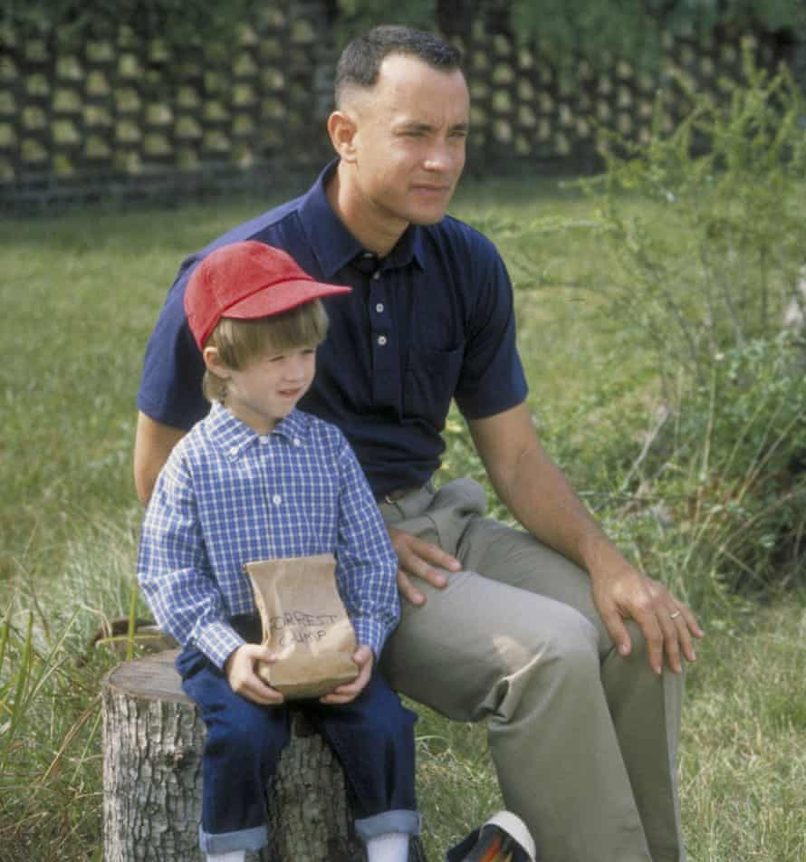 Osment with Tom Hanks in Forrest Gump.