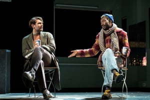 James McArdle (Louis) and Nathan Stewart-Jarrett (Belize) in Angels in America - Millennium Approaches.
