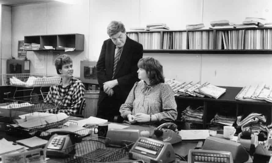 Preston in the newsroom in 1984.