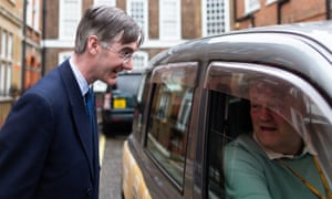 Jacob Rees-Mogg speaking to a taxi driver