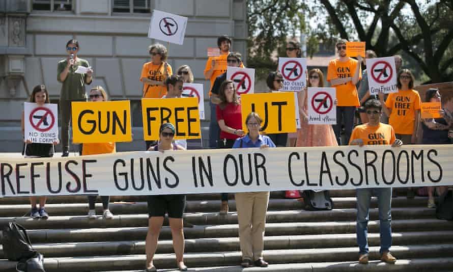 gun control US colleges universities women