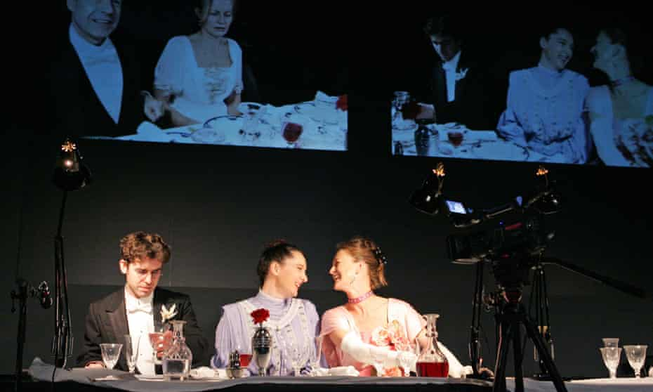 Paul Ready, Kate Duchene and Liz Kettle in Waves at the National Theatre (2006)