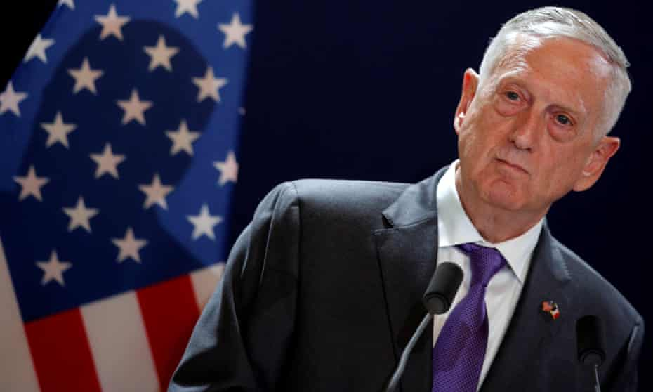 James Mattis attends a news conference in Paris, earlier this month.
