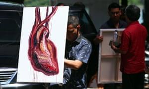 The final painting by Myuran Sukumaran.