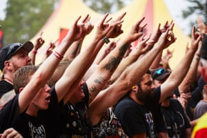 The crowd at Download festival.