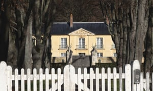 Macron is staying in La Lanterne, a presidential residence in Versailles