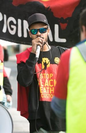 Paul Silva at a protest held in David's honour in Kempsey