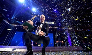 Zlatan Ibrahimovic was awarded the Golden Ball for the 10th successive year at the Swedish football gala in Stockholm on Monday night.