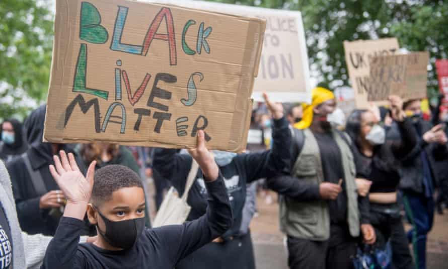 A Black Lives Matter protest in London, June 2020.