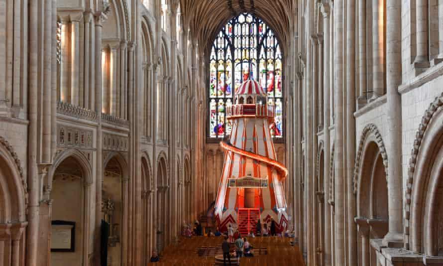 Helter skelter inside Norwich Cathedral