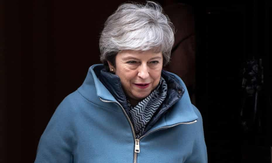 Theresa May leaves 10 Downing Street on Tuesday.