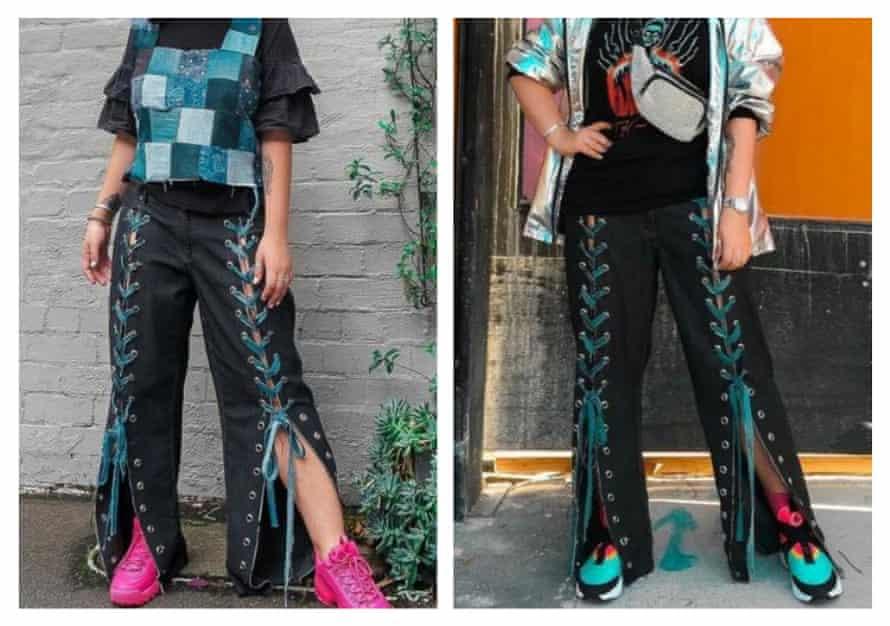 Shy Denim's  transformed jeans