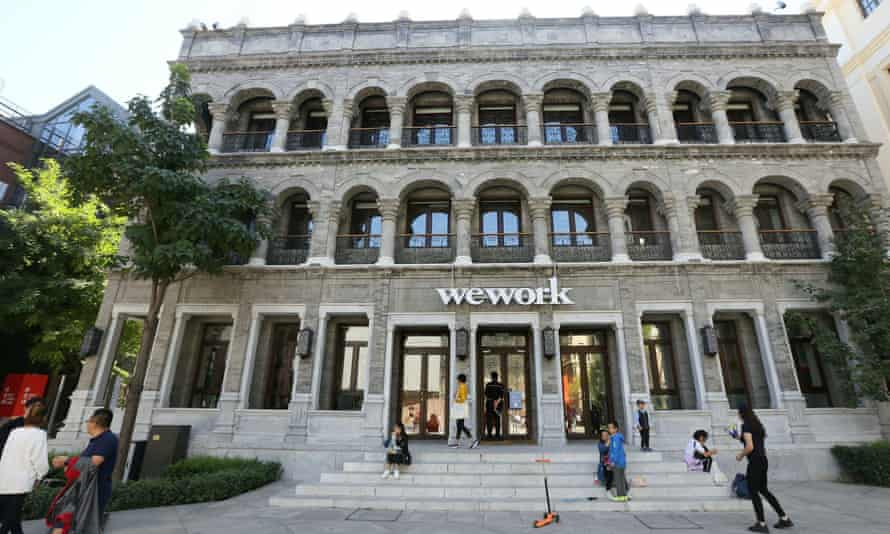 A WeWork's co-working space in Beijing.