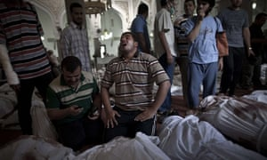 Bodies in mosque after Sisi crackdon, August 2013