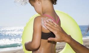 Children are at particular risk of sunburn.