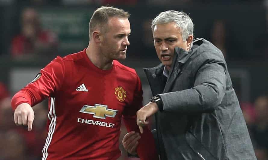 José Mourinho and Wayne Rooney