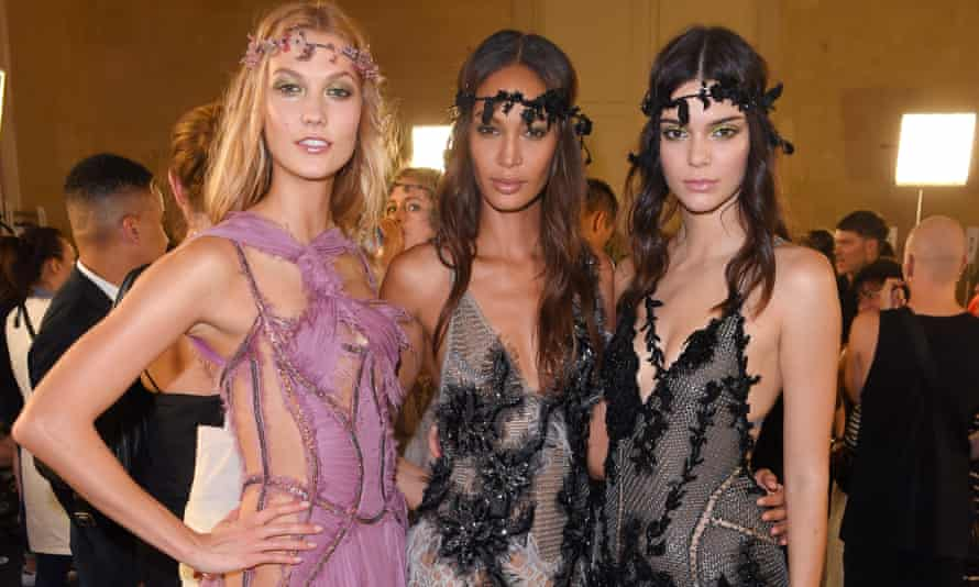 Models at Versace's show on Sunday: 'This was what the Flower Fairies might look like if they had grown up and become regulars at Studio 54'.