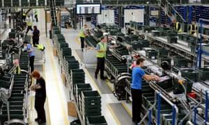 John Lewis sorting warehouse in Milton Keynes
