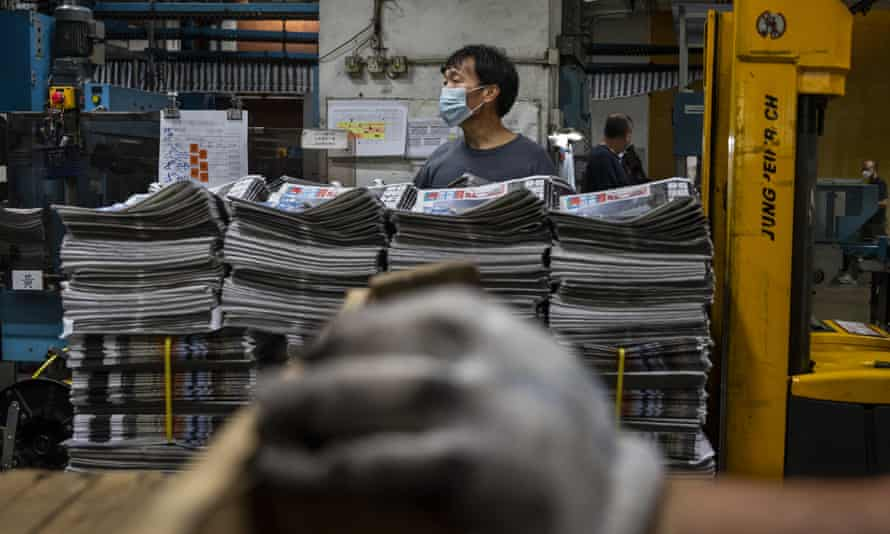 Apple Daily said last week it would print its final edition on Thursday