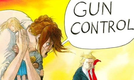 Florida shooting: howls of grief fall upon deaf ears - cartoon
