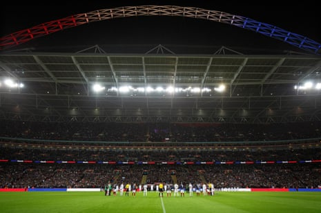 Wembley's tribute to France after the Paris terror attacks
