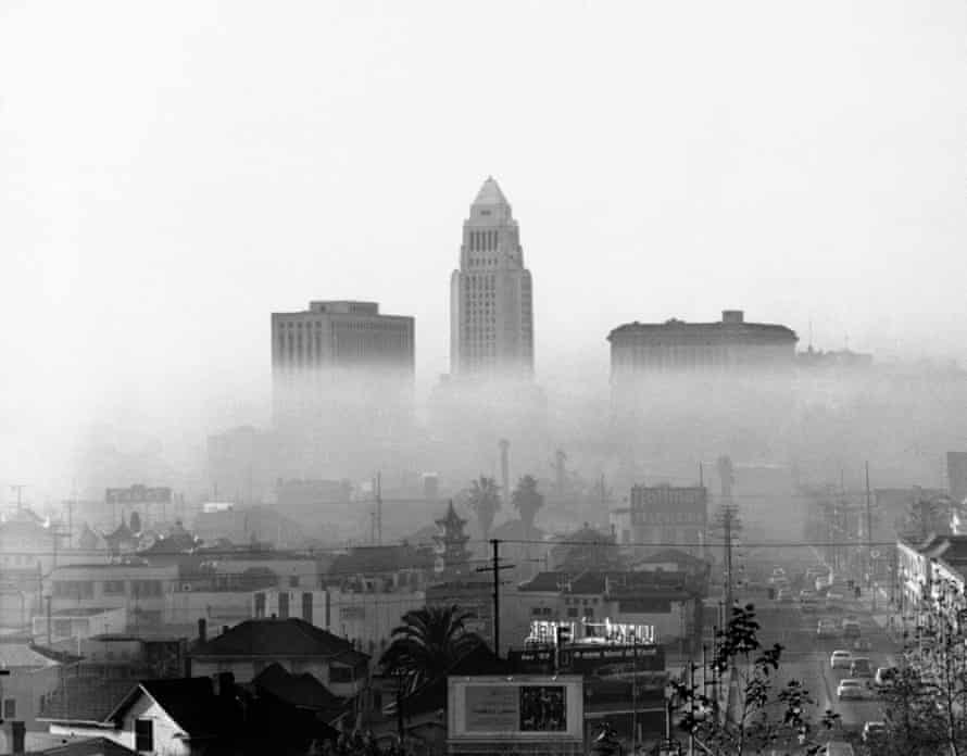 Los Angeles on one of its frequent smoggy days in 1958.