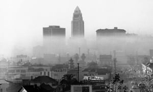 Smog blankets Los Angeles in 1958.