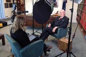 Film-maker Eva Orner interviewing Malcolm Fraser