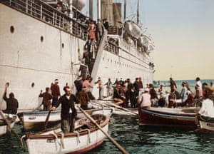 Landing off the coast of Algiers, Algeria. 1896