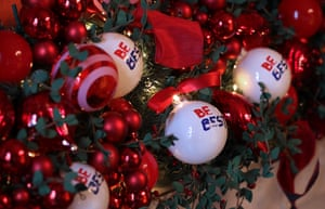 Baubles adorned with Melania Trump's 'Be Best' initiative