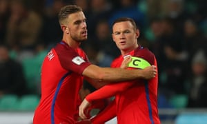 Jordan Henderson gave the captain's armband to Wayne Rooney