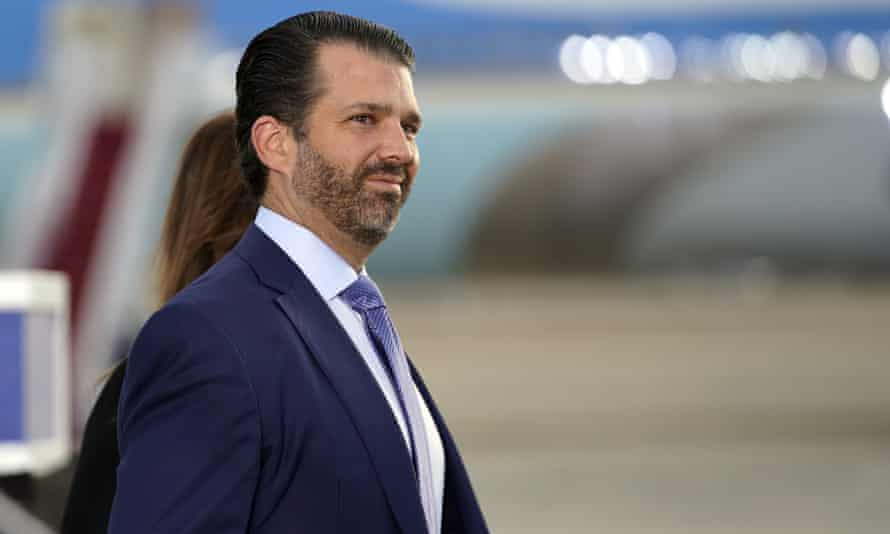 Donald Trump Jr follows a number of other 'Maga celebrities' to join the platform, including Kimberly Guilfoyle, Roger Stone and Sebastian Gorka.