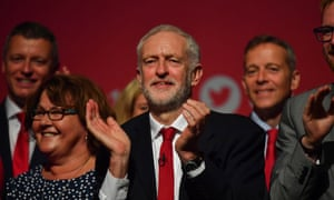 Jeremy Corbyn at the Labour conference in Brighton.
