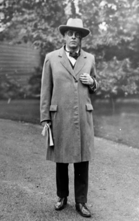 WB Yeats in Dublin, 1923.