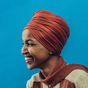 Head shot of Democratic Congresswoman Ilhan Omar
