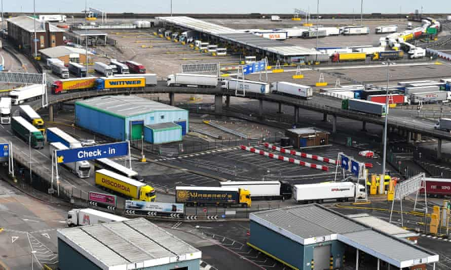 Cargo trucks at Dover