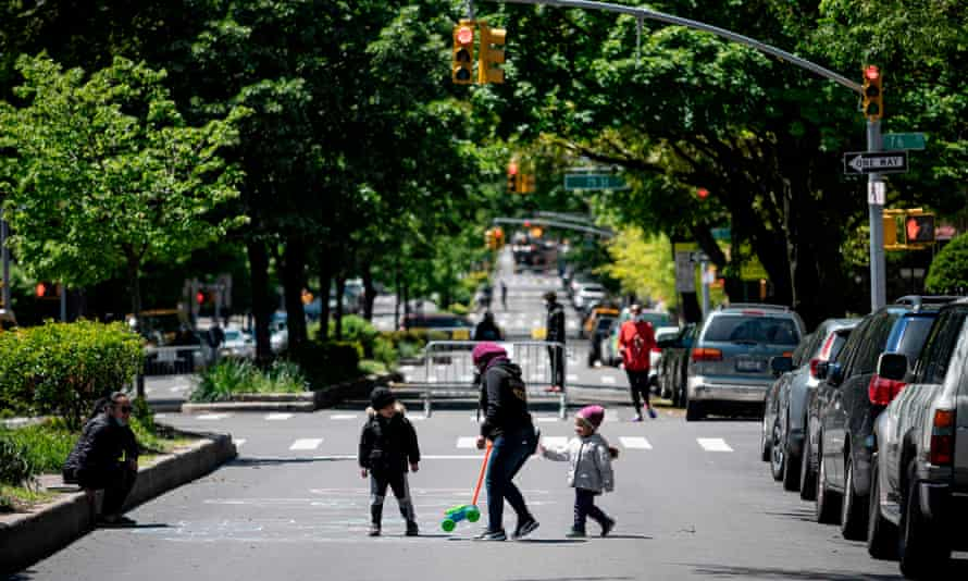 Some cities, such as New York, have created more space for exercise and play by limiting through traffic on some roads.