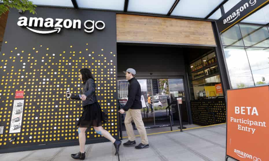 The Amazon Go store in Seattle.