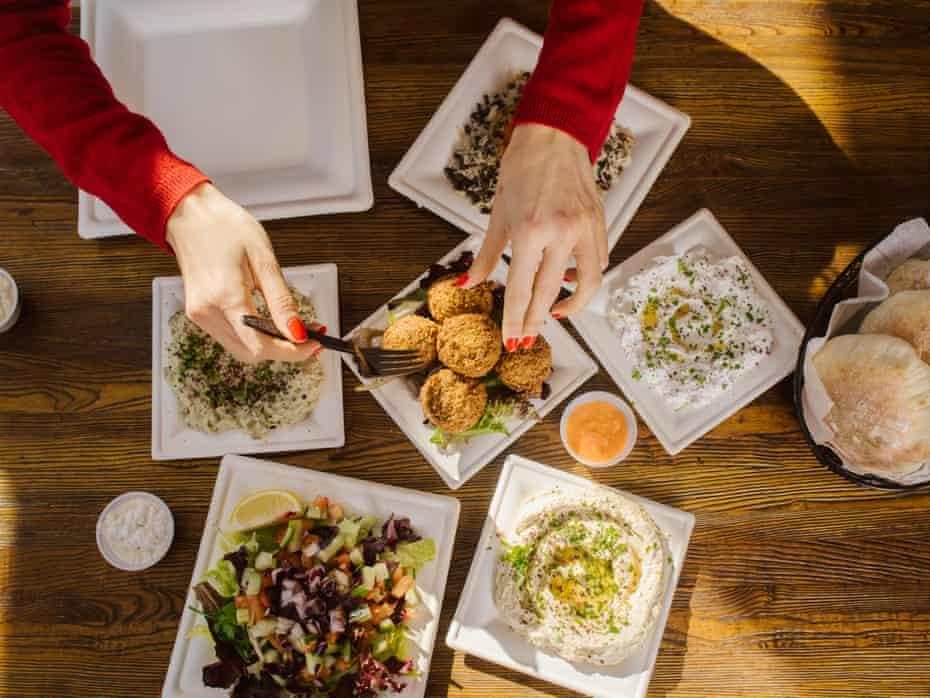 Yasmin Khan at Taheni, a Mediterranean restaurant in Park Slope, Brooklyn.