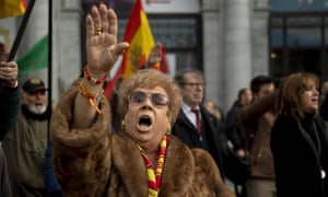General Franco's supporters on the 44th anniversary of the dictator's death in November 1975, in Madrid last year.