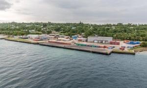 Wharf development at Luganville on Espiritu Santo, Vanuatu