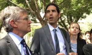Scott Warren speaks outside federal court in Tucson, Arizona on 11 June 2019.