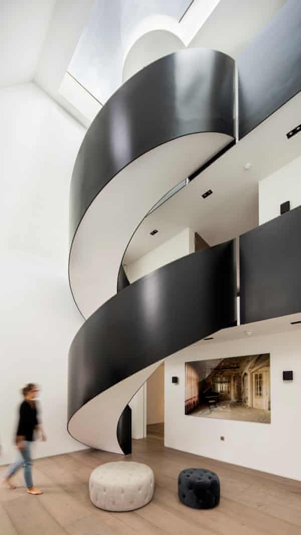 'A strand of DNA': the scene-stealing spiral staircase.