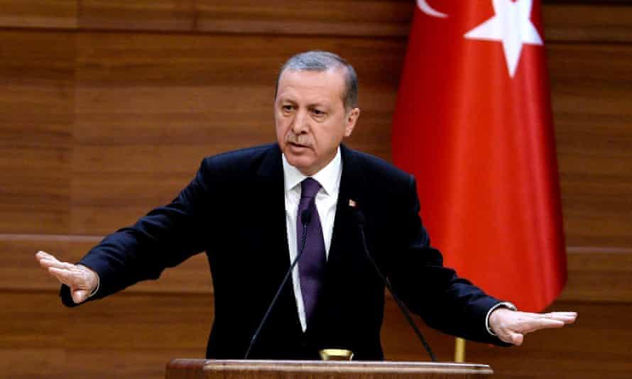 Turkey's president, Recep Tayyip Erdoğan